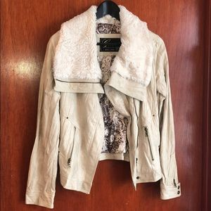 Guess Leather Faux Fur Jacket